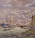 The Thames Nautical Training College H.M.S.Worcester, the Cutty Sark and the yawl Katrine. 1951/2.