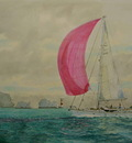 The Yacht Fizz off the Needles