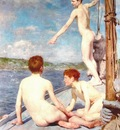 Tuke, Henry Scott 1858–1929,  The Bathers
