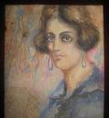 woman in blue dress William Glackens