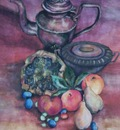 the still life with fruits