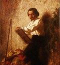Jean Adrien Guignet  -  Self portrait