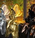 museum shop design store design kooperative wien design tower vienna mini waechter time guardians light art sculpture sculptor manfred kielnhofer gold silver bronze