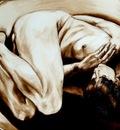 De baarmoeder ,painting by Geert Coucke
