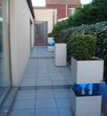 Bloembak  en tuinverlichting ontwerp Geert Coucke