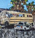 Canadia's Bus, Glee's car, and the Fireball, Tecopa Ca, USA