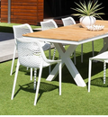 OASIS OUTDOOR RESIN CHAIR   WHITE